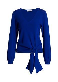 Milly Twist Tie Hem Sweater