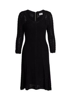 Milly Vertical Stitch A-line Dress