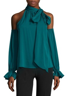 Milly Viola Cold-Shoulder Top