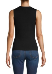 Milly Wrap Front Sleeveless Top