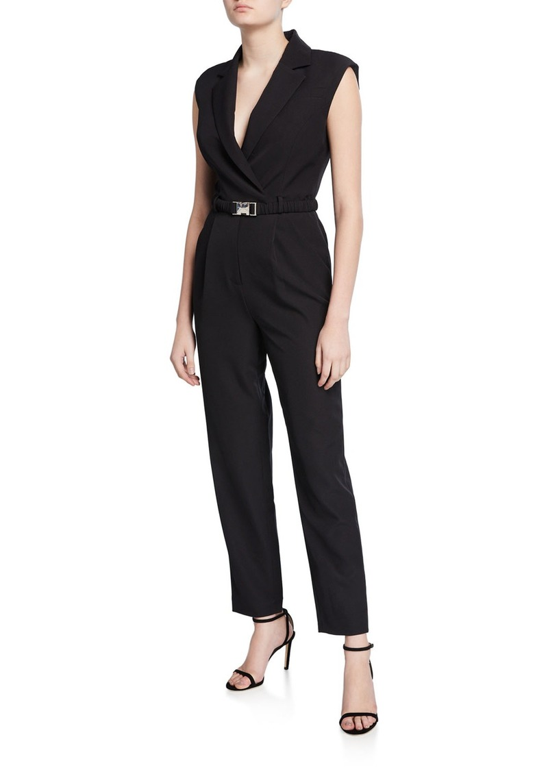 Milly Yara Sustainable Cady Buckle Jumpsuit
