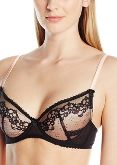 Mimi Holliday Women's Orchid Fully Padded Super Plunge with Raised Lace Bra