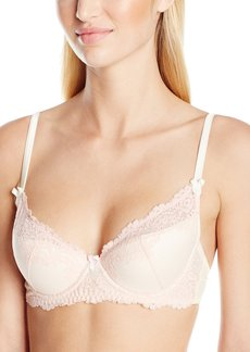 Mimi Holliday Women's Sugar Almond Fully Padded Super Plunge with Raised Lace Bra