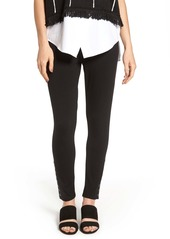 Ming Wang Grommet Detail Skinny Knit Pants