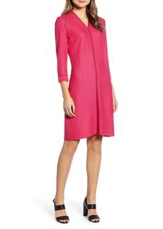 Ming Wang Jacquard Knit A-Line Dress