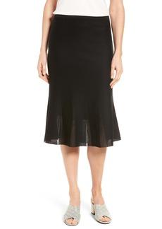Ming Wang Knit Flared Skirt