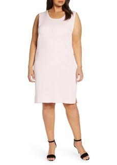 Ming Wang Sleeveless Shift Dress (Plus Size)