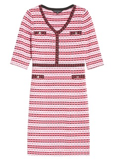 Ming Wang Stripe Sweater Dress