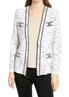 Ming Wang Stripe Sweater Jacket