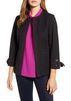 Ming Wang Tie Cuff Jacket