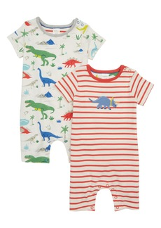 Mini Boden 2-Pack Dino Rompers (Baby Boys)