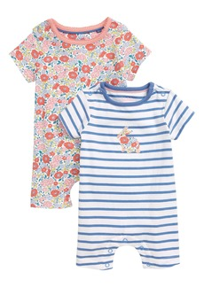 Mini Boden 2-Pack Floral Rompers (Baby)