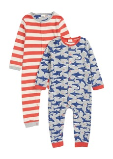 Mini Boden 2-Pack Rompers (Baby Boys)
