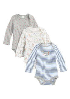 Mini Boden 3-Pack Seals Cotton Bodysuits (Baby Boys)