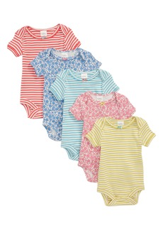Mini Boden 5-Pack Assorted Bodysuits (Baby Girls)
