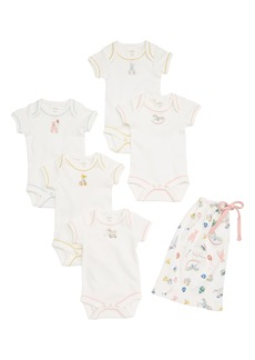 Mini Boden 5-Pack Nursery Bodysuits (Baby Girls)