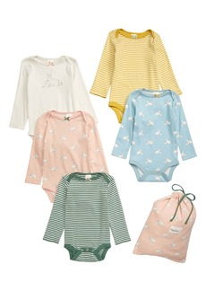 Mini Boden 5-Pack Print Bodysuits (Baby)