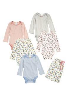 Mini Boden 5-Pack Print Bodysuits (Baby Girls & Toddler Girls)