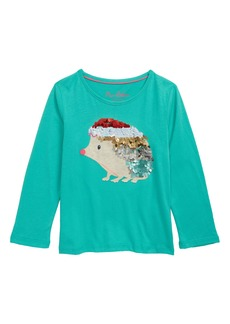 Mini Boden Animal Appliqué Sequin Tee (Toddler Girls, Little Girls & Big Girls)