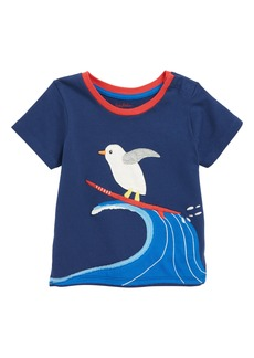 Mini Boden Animal Appliqué T-Shirt (Baby Boys)