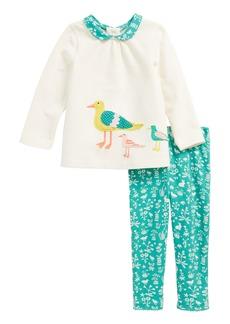 Mini Boden Animal Appliqué Top & Leggings Play Set (Baby Girls & Toddler Girls)