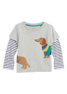 Mini Boden Animal Friends Layer T-Shirt (Baby Boys)