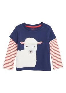Mini Boden Animal Friends Layered T-Shirt (Baby Boys)