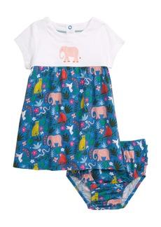 Mini Boden Animal Jersey Dress (Baby & Toddler Girls)