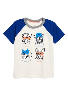 Mini Boden Animal Print Raglan Shirt (Toddler Boys, Little Boys & Big Boys)