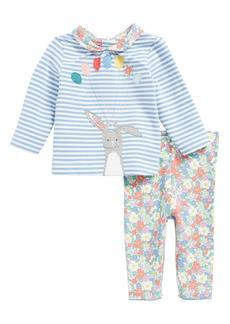 Mini Boden Animal Top & Leggings Set (Baby Girls & Toddler Girls)