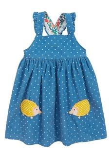 Mini Boden Appliqué Corduroy Pinafore Dress (Baby Girls & Toddler Girls)