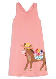 Mini Boden Appliqué Cross Back Dress (Toddler Girls, Little Girls & Big Girls)