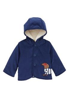 Mini Boden Appliqué Faux Shearling Corduroy Jacket (Baby Boys)