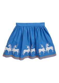 Mini Boden Appliqué Hem Skirt (Toddler Girls, Little Girls & Big Girls)