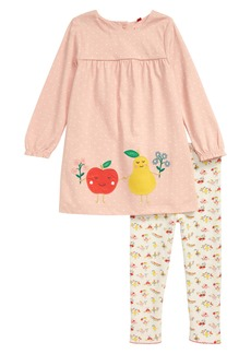 Mini Boden Appliqué Jersey Dress & Leggings Set (Baby)