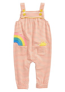 Mini Boden Appliqué Jersey Dungarees Romper (Baby Girls & Toddler Girls)