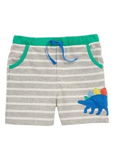 Mini Boden Appliqué Jersey Shorts (Baby Boys)
