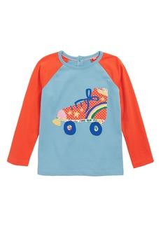 Mini Boden Appliqué Raglan T-Shirt (Toddler Girls, Little Girls & Big Girls)