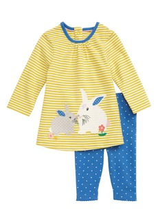 Mini Boden Appliqué Tunic & Leggings Set (Baby)