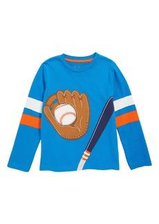 Mini Boden Baseball Appliqué T-Shirt (Little Boys & Big Boys)