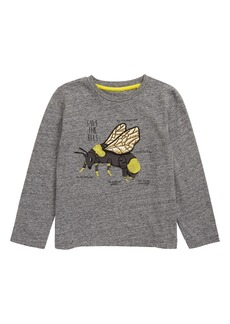 Mini Boden Bee Insect Fact Embroidered T-Shirt (Toddler Boys, Little Boys & Big Boys)