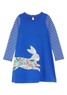 Mini Boden Big Appliqué Dress (Toddler Girls, Little Girls & Big Girls)