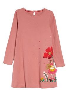 Mini Boden Big Appliqué T-Shirt Dress (Walker, Toddler, Little Girls & Big Girls)
