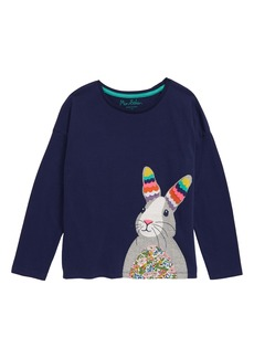 Mini Boden Big Appliqué T-Shirt (Toddler Girls, Little Girls & Big Girls)