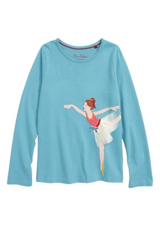 Mini Boden Big Appliqué Tee (Toddler Girls, Little Girls & Big Girls)