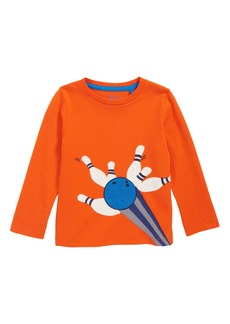 Mini Boden Bouclé Appliqué Long Sleeve T-Shirt (Toddler Boys, Little Boys & Big Boys)
