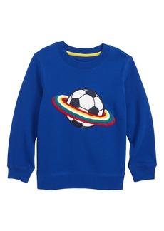 Mini Boden Bouclé Soccer Ball Sweatshirt (Toddler Boys, Little Boys & Big Boys)