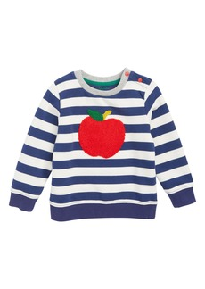 Mini Boden Bouclé Sweatshirt (Baby Boys)