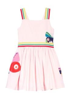 Mini Boden Bright Appliqué Dress (Toddler Girls, Little Girls & Big Girls)