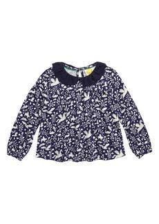 Mini Boden Broderie Collar Top (Toddler Girls, Little Girls & Big Girls)